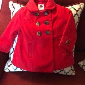 Toddler girls RED pea coat ❤️
